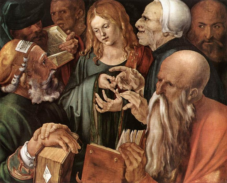 famous painting Christ Among the Doctors of Albrecht Durer