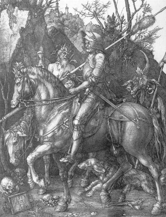 famous painting Knight, Death and the Devil of Albrecht Durer