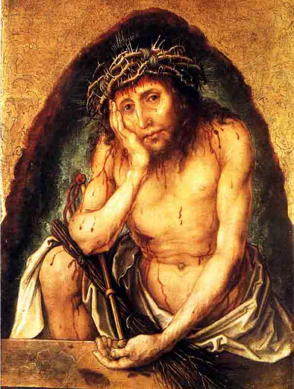famous painting the Man of Sorrows, karlsruhe of Albrecht Durer