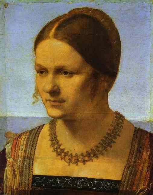 famous painting Portrait of a Young Venetian Woman of Albrecht Durer