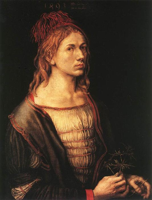 Order Reproductions | Self-portrait at 22 by Albrecht Durer | Most-Famous-Paintings.com