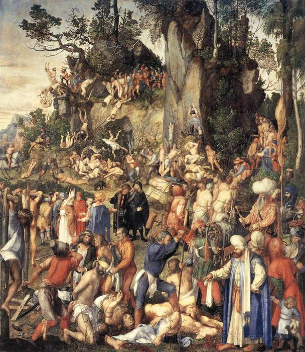 Order Museum Quality Copies | The Martyrdom of the Ten Thousand by Albrecht Durer | Most-Famous-Paintings.com