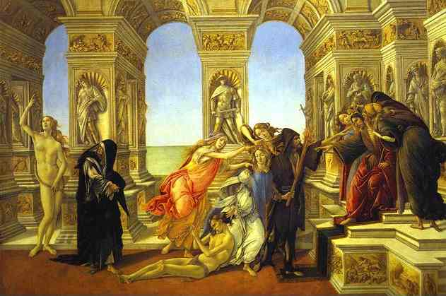 Order Reproductions | Calumny of Apelles by Sandro Botticelli | Most-Famous-Paintings.com