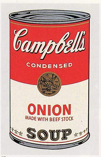 | Campbell'S Soup Can (onion) by Andy Warhol | Most-Famous-Paintings.com