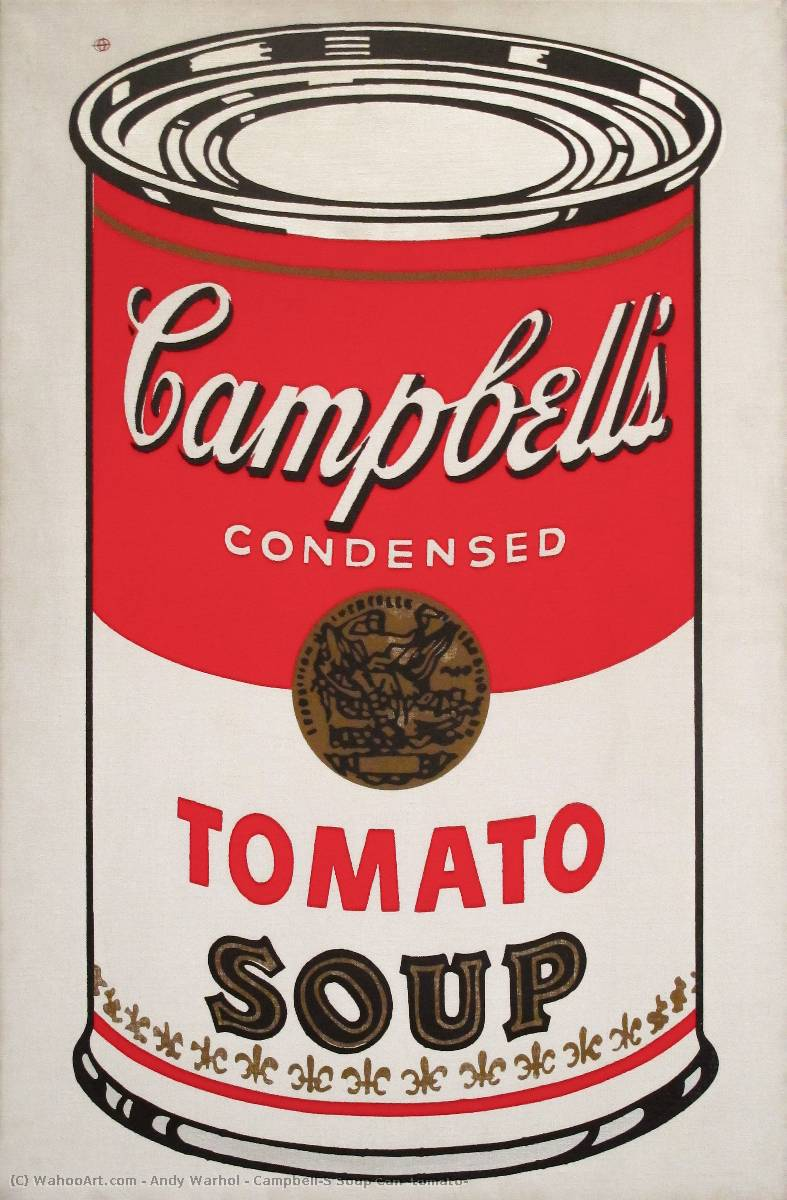 famous painting Campbell'S Soup Can (tomato) of Andy Warhol