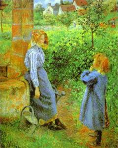 Camille Pissarro - Woman and Child at a Well