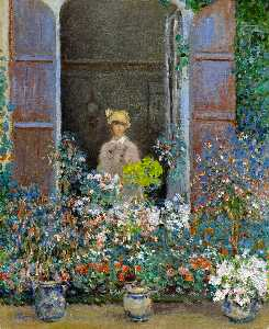 Claude Monet - Camille Monet at the Window