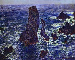 Claude Monet - Cliffs at Belle-Ile