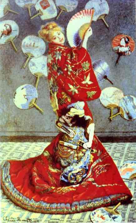 Buy Museum Art Reproductions | Madame Monet in Japanese Costume (La Japonaise) by Claude Monet | Most-Famous-Paintings.com