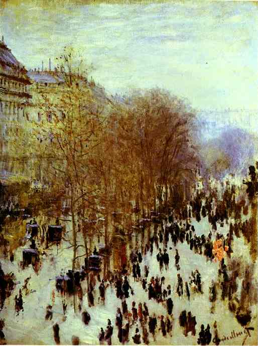 famous painting The Boulevard des Capucines of Claude Monet