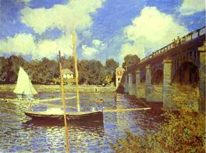 Claude Monet - The Road Bridge at Argenteuil
