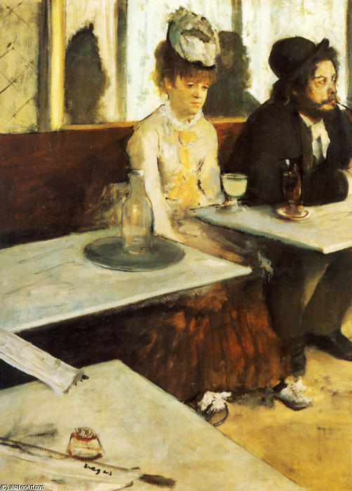 Order Painting Copy : The Absinthe Drinker by Edgar Degas | Most-Famous-Paintings.com
