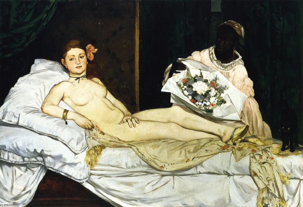 famous painting Olympia of Edouard Manet