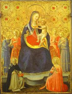 Fra Angelico - Madonna with Angels and the Saints Dominic and Catherine