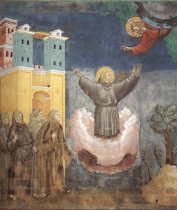 Giotto Di Bondone - Legend of St Francis - [12] - Ecstasy of St Francis