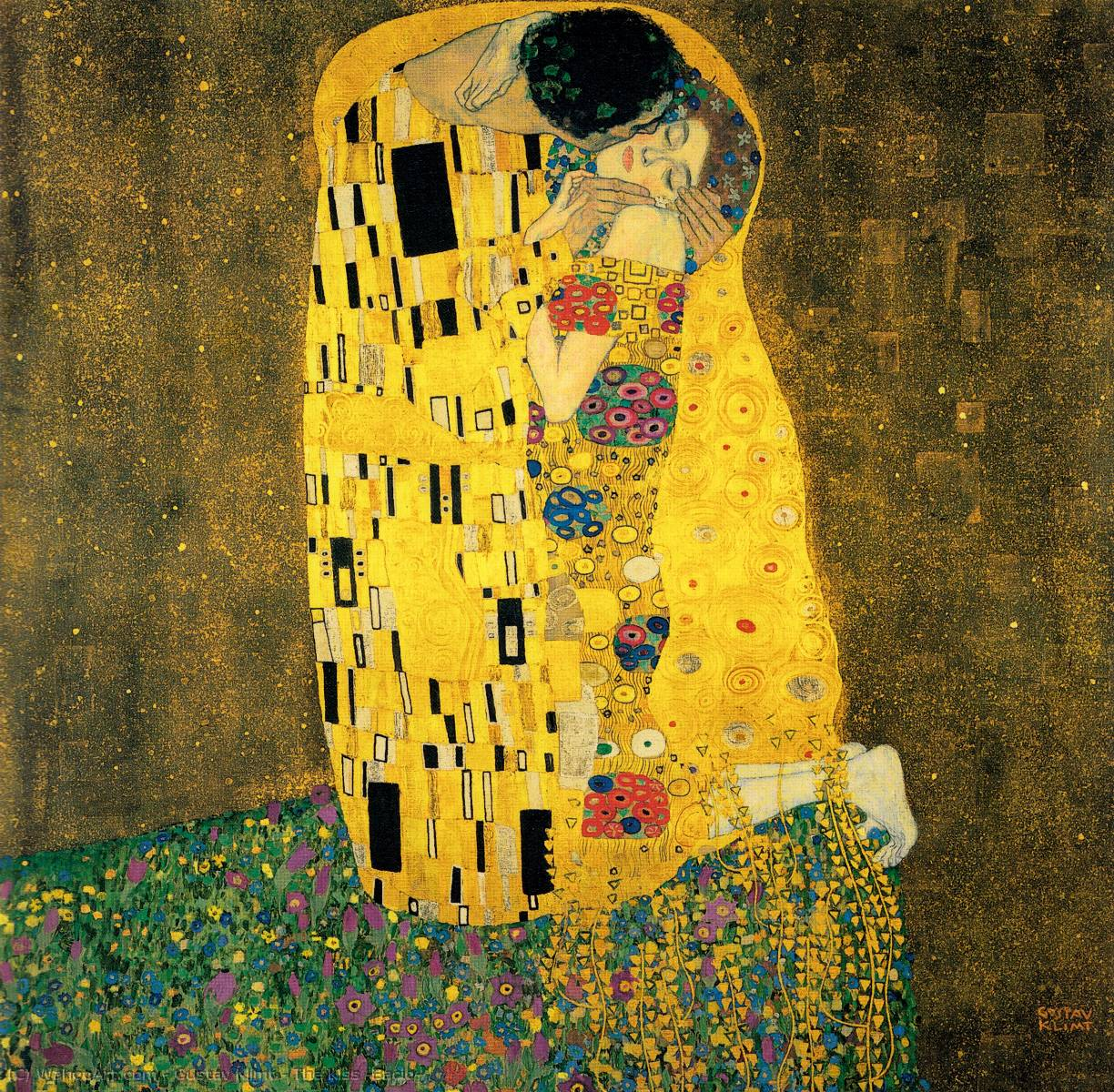 Order Paintings Reproductions | The Kiss (Bacio) by Gustav Klimt | Most-Famous-Paintings.com