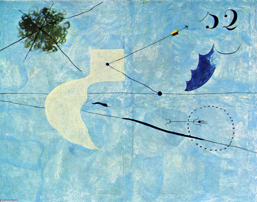 Buy Museum Art Reproductions | Siesta by Joan Miro | Most-Famous-Paintings.com