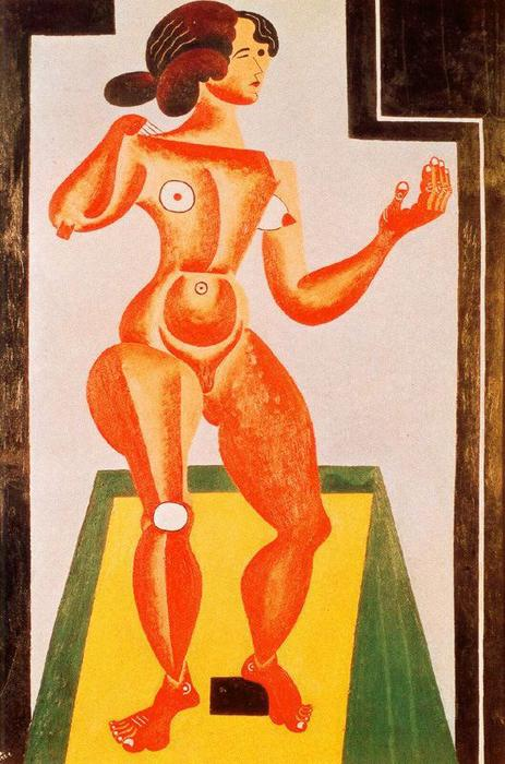 Order Art Reproductions : Standing Nude by Joan Miro | Most-Famous-Paintings.com