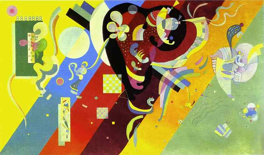 Order Reproductions | Composition LX by Wassily Kandinsky | Most-Famous-Paintings.com