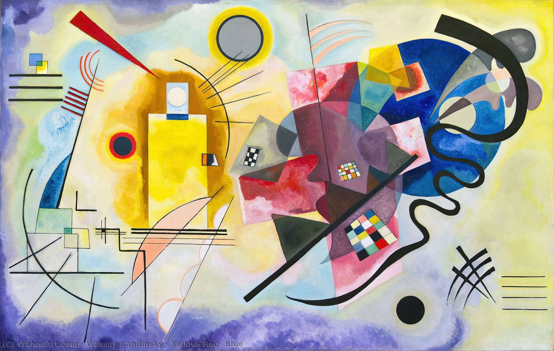 Order Museum Quality Copies | Yellow, Red, Blue by Wassily Kandinsky | Most-Famous-Paintings.com