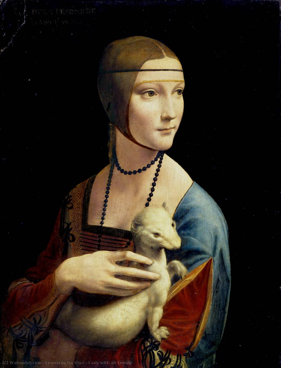 famous painting Lady with an Ermine of Leonardo Da Vinci