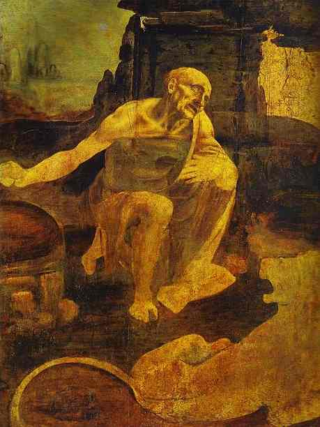 famous painting St Jerome in the Wilderness of Leonardo Da Vinci