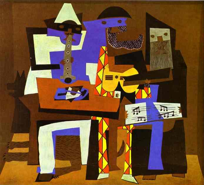 Three Musicians by Pablo Picasso (buy Famous Framed Print Pablo Picasso)