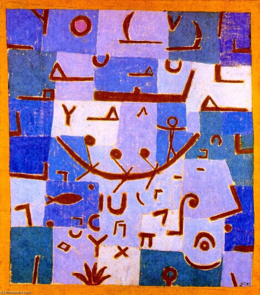 famous painting Legend of the Nile of Paul Klee