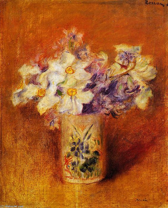 famous painting Flowers in a Vase of Pierre-Auguste Renoir