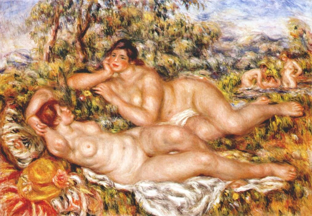 Order Museum Quality Copies | The Great Bathers (The Nymphs) by Pierre-Auguste Renoir | Most-Famous-Paintings.com