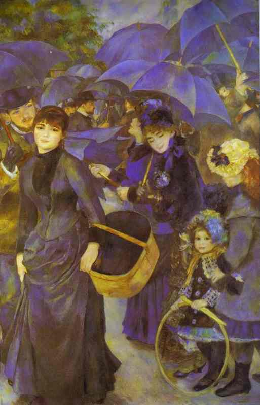 famous painting The Umbrellas of Pierre-Auguste Renoir