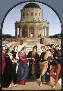 Raphael (Raffaello Sanzio Da Urbino) - Marriage of the Virgin