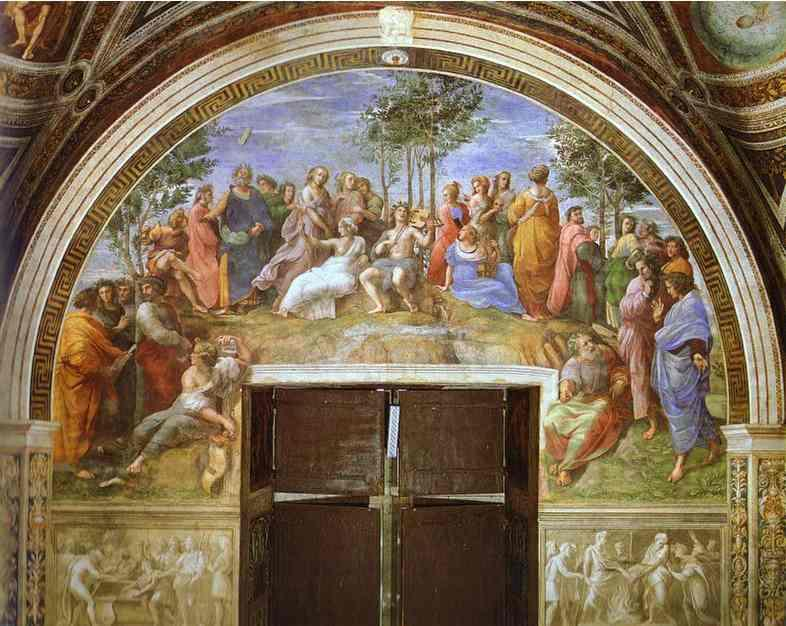 Order Museum Quality Copies | Parnasus by Raphael (Raffaello Sanzio Da Urbino) | Most-Famous-Paintings.com