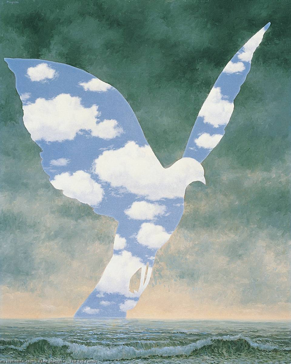 | The Big Family by Rene Magritte | Most-Famous-Paintings.com