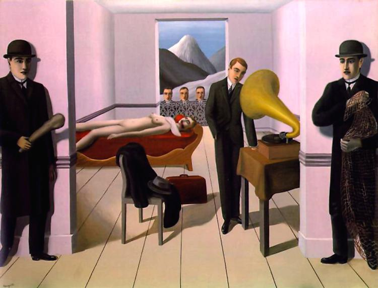 famous painting The Threatened Murderer of Rene Magritte