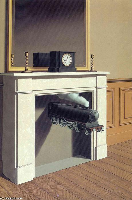 | Time transfixed by Rene Magritte | Most-Famous-Paintings.com