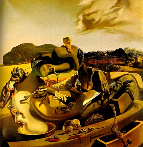 | Autumn Cannibalism by Salvador Dali | Most-Famous-Paintings.com
