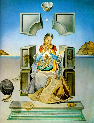 famous painting The Madonna of Port Lligat (first version) of Salvador Dali