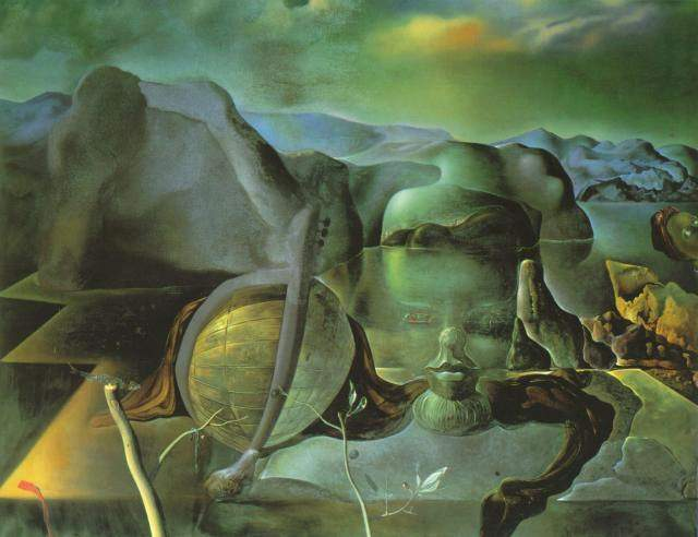 famous painting The Endless Enigma, 1938 of Salvador Dali