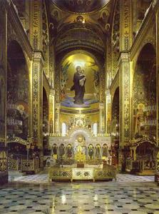 Victor Vasnetsov - Interior of the Cathedral of St. Vladimir, Kiev, View of the apse
