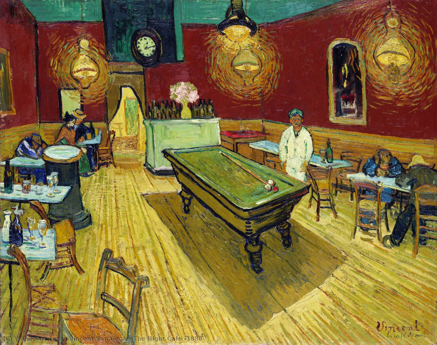 Order Museum Quality Copies | The Night Cafe by Vincent Van Gogh | Most-Famous-Paintings.com
