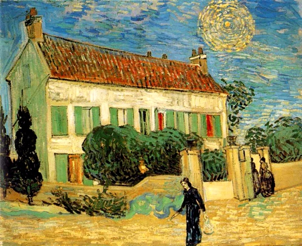 famous painting The White House at Night [June 1890] of Vincent Van Gogh