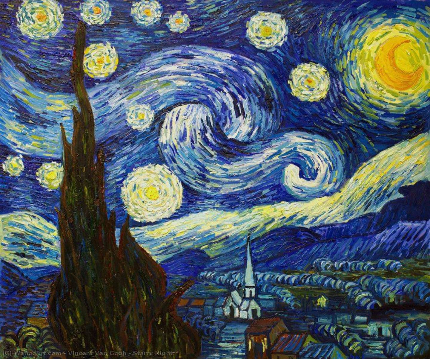 Order Art Reproductions | Starry Night by Vincent Van Gogh | Most-Famous-Paintings.com