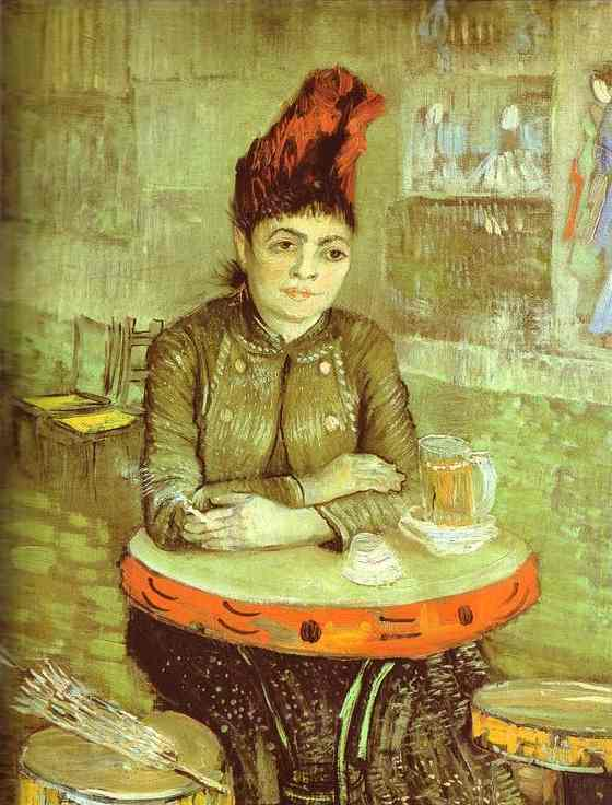 Order Art Reproductions | Agostina Segatori in the Café du Tambourin by Vincent Van Gogh | Most-Famous-Paintings.com