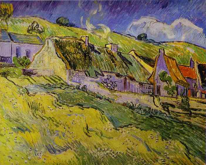 famous painting Cottages of Vincent Van Gogh