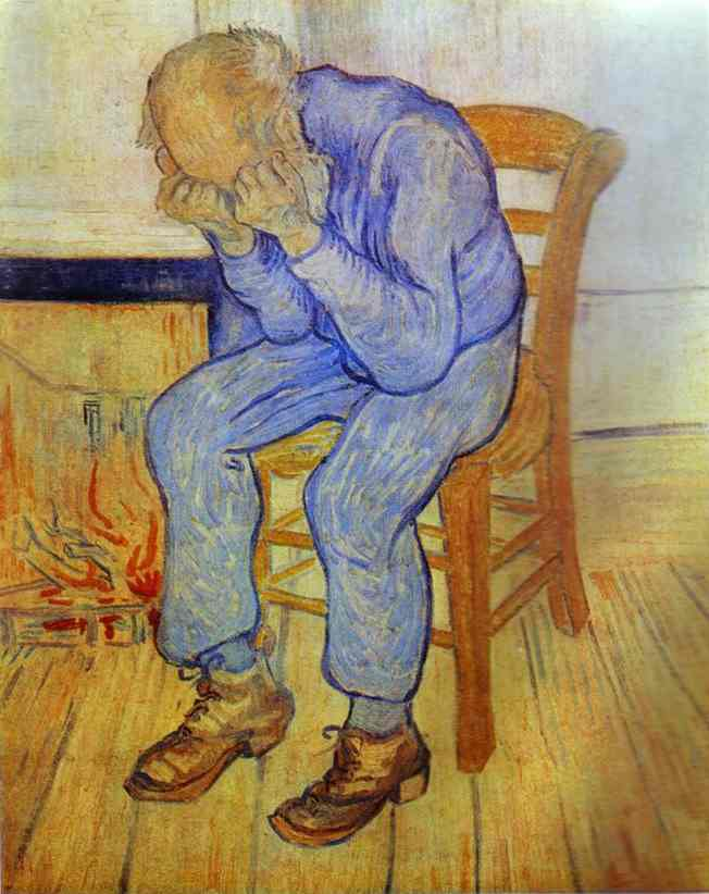 famous painting Old Man in Sorrow of Vincent Van Gogh