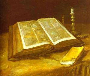 Vincent Van Gogh - Still Life with Open Bible
