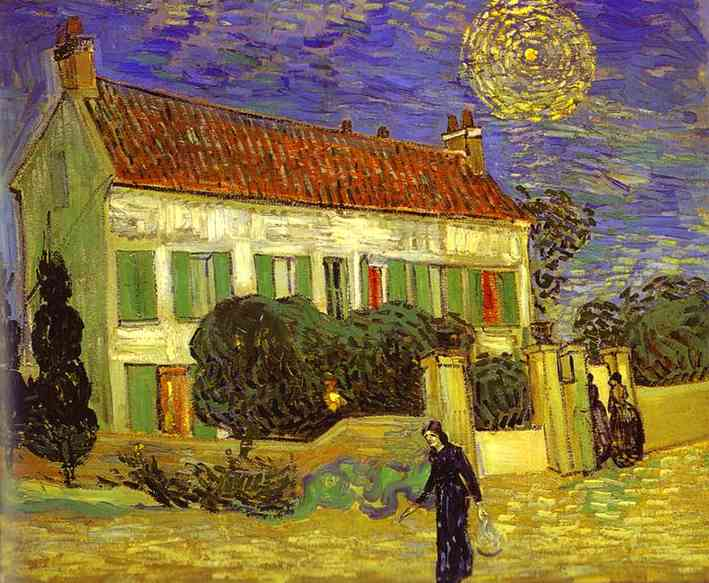 Order Museum Quality Copies | The White House at Night (La maison blanche au nuit) by Vincent Van Gogh | Most-Famous-Paintings.com