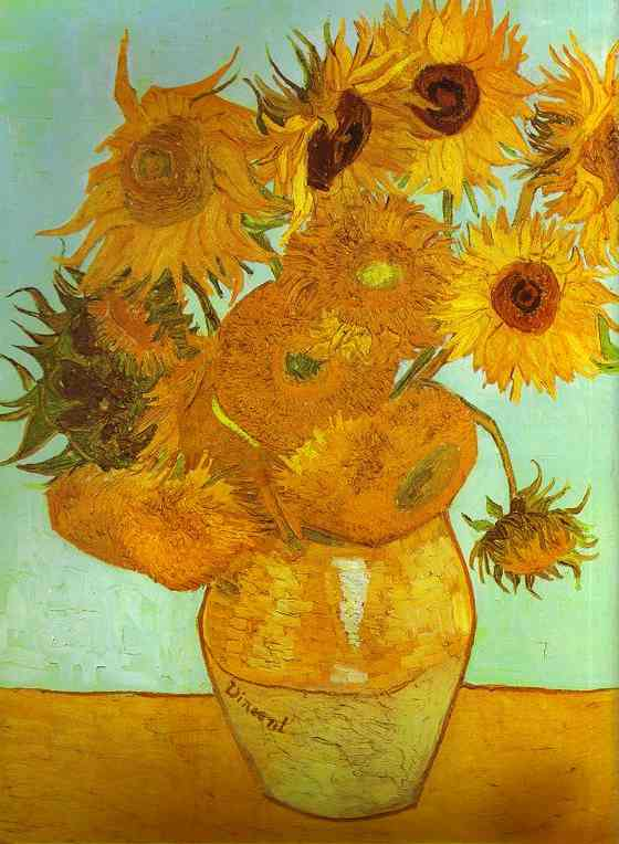 famous painting Twelve Sunflowers in a Vase of Vincent Van Gogh
