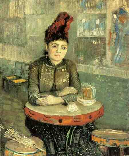 famous painting Agostina Segatori Sitting in the Cafe du Tambourin of Vincent Van Gogh